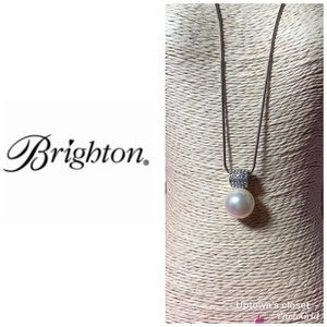 """Brighton necklace """"Meridian"""" pearl & silver NWT"""